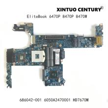 686042-001 686042-601 para HP EliteBook 6470P 8470P 8470W placa base de computadora portátil 6050A2470001 placa base SLJ8A 216-0833018 100% prueba