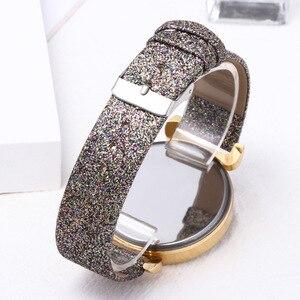 Image 5 - Orologio da donna di moda orologio da donna in cristallo con cielo stellato orologio da polso al quarzo con cinturino in pelle per regali per sorelle
