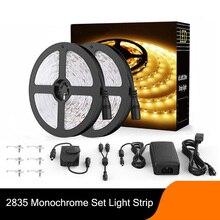 Заполните светодиодные полосы света 2835 набор низкого напряжения подсветки с регулируемой яркостью белый теплый 10 метров