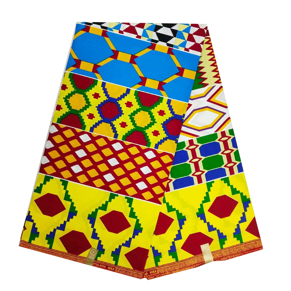 African Nigerian Ankara Holland Wax Fabric Veritable Wax 100% Cotton Prints 2019 High Quality Fabrics For Women Sewing 6 Yards