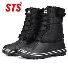 Women Boots Shoes Lace-Up Waterproof Winter Ladies Chaussures Comfortable Sts-Quality