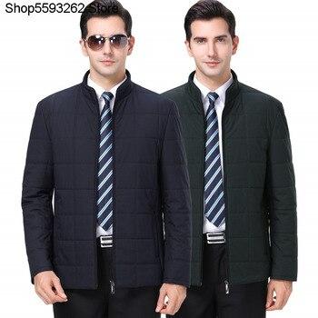 Winter Brand Men's Wear Cotton-padded Jacket Coat Middle Age Men Cotton-padded Jacket Leisure Li Collar Cotton-padded Jacket Dad фото
