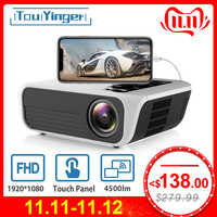 Touyinger L7 LED nativa de 1080P 4500 Lumens full HD Video proyector Android 7,1 wifi AC3 Bluetooth casa cine HDMI