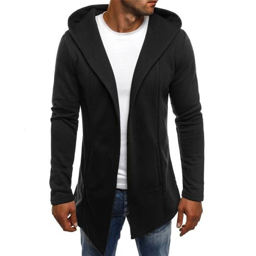 Hb5782623d59146d9b5a7ac420f9cc9840 Casual Men's Jackets Men Splicing Hooded Solid Trench Coat Jacket Cardigan Long Sleeve Outwear Blouse Man Jacket #FU