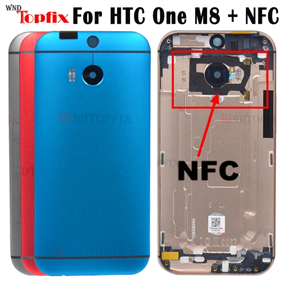 For <font><b>HTC</b></font> One <font><b>M8</b></font> Back Cover <font><b>Battery</b></font> Door 831C <font><b>Case</b></font> with Volume Power Button Camera Lens Replacement For <font><b>HTC</b></font> <font><b>M8</b></font> <font><b>Battery</b></font> cover door image
