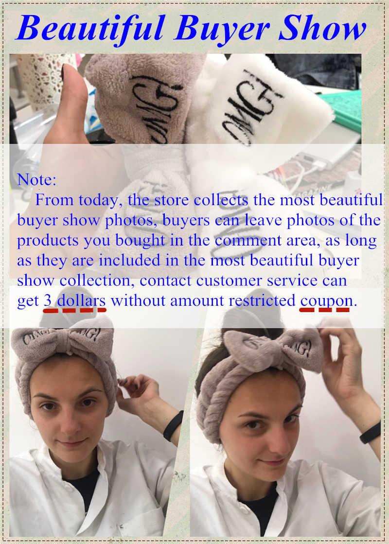 Bow Headwear ขนแกะ Coral หน้าอาบน้ำแต่งหน้าหน้ากาก Turban ผู้หญิงผู้หญิงอุปกรณ์เสริมผม Letter Dot ลายแมวรูปร่าง Hairband