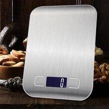 10/5kg cozinha peso eletrônica balança comida de aço inoxidável dieta postal equilíbrio cozinha ferramenta de medição lcd digital gramas escalas