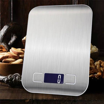 10/5Kg Kitchen Weight Electronics Scale Stainless Steel Food Diet Postal Balance Cuisine Measuring Tool LCD Digital Grams Scales
