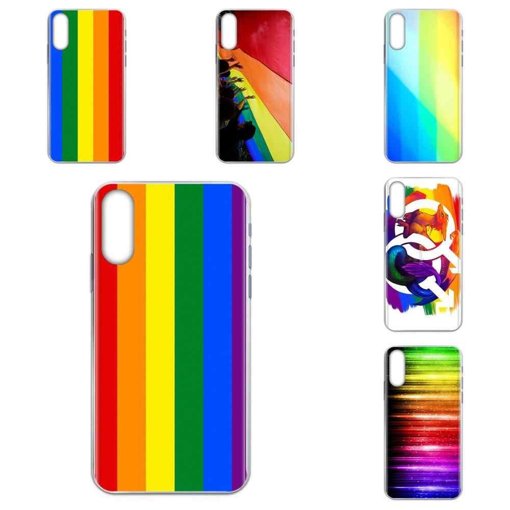 Pride LGBT Regenbogen Unisex Lederarmband Gay Pride Lesbian Bisexual Schmuc Z7L2