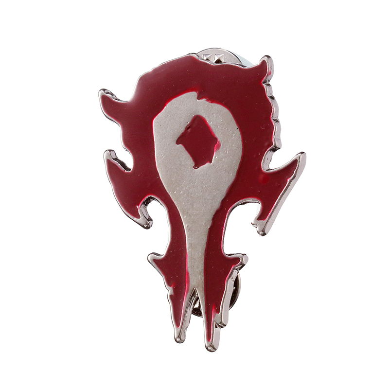 Zrm moda jóias jogo mundo de warcraft logotipo tribal pinos broches aliança horda wow crachá broche para mulheres presentes amigo