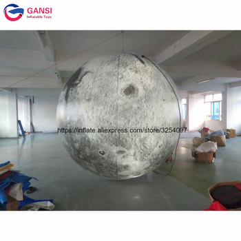 цена на Hot selling inflatable hanging globe balloon toy moon ball inflatable lighting moon for festival decoration