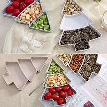 Creative Christmas Tree Box Candy Snacks Nuts Seeds Dry Fruits Plastic Plates Dishes Bowl Breakfast Tray Home Kitchen Candy Box 10pcs bag bauhinia flower seeds bauhinia tree butterfly tree rare orchid flower tree seeds fresh bauhinia purpurea seeds