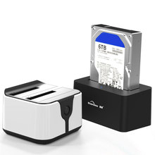 2 Bay SATA USB 3.0 SSD Enclosure HDD Case Usb Hdd Enclosure External Hard Drive Docking for 2.5/3.5inch HDD/SSD Offline Clone