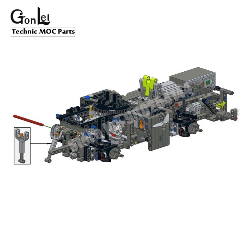 Новый мотор для модификации пульта дистанционного управления, набор кирпичей для 42054 CLAAS XERION 5000 TRAC VC высокотехнологичный строительный блок, кирпичи, игрушки для творчества 3