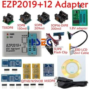 Image 1 - Juego completo EZP2019, programador USB SPI de alta velocidad + adaptador SOP8 de 12, clip de prueba, sop8/16, 1,8 V, adaptador de enchufe flash aux 24 25 EEPROM