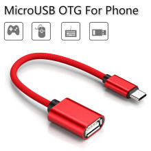 2 Type Type C to USB Adapter OTG Cable Micro USB OTG Converter Type-C Micro Charger Data Cable For Xiaomi Redmi Samsung Phone(China)