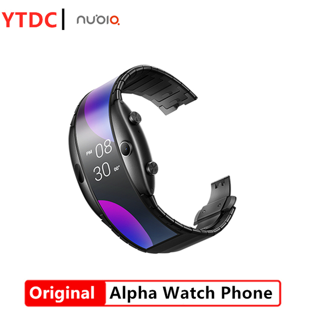"""Original ZTE Nubia alpha 4.01""""foldable flexible display Snapdragon 8909W Mobile Phone band Curved surface screen 8GB ROM"""
