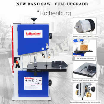 Desktop Cutting Woodworking Band Saw 8 inches Band Saw Plastic Curve Cutting Pull Flower Woodworking Tools Planing Wood Machine