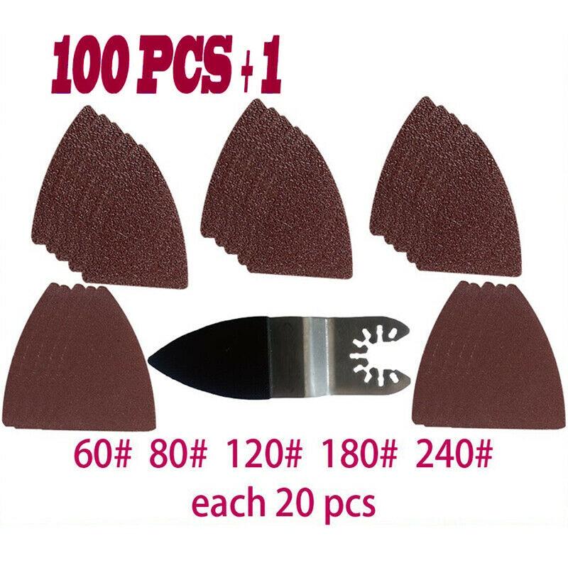 Triangular Sheets Sanding Pad 101pcs Multi-function Equipment Finger Sander Set