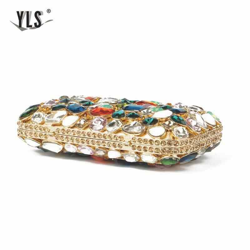 Fashion Handbags Cluches Women Luxury Clear Crystal Evening Clutch Purse  Dinner Wedding Party Clutch Handbags YLS-G29
