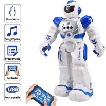 Kuulee Intelligent Remote Control Robot for Kids Programmable Robot with Infrared Controller Toys Dancing Singing LED Eyes