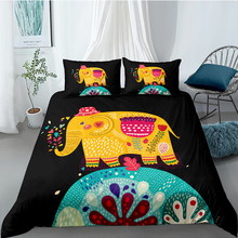 Cartoon Elephant Bedding Set For Kids Creative 3D Cute Duvet Cover Black King Queen Twin Full Single Double High End Bed