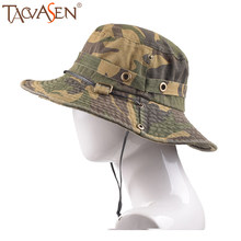 TACVASEN Fishing Cap Men Tactical Sniper Boonie Hat Summer Military Army Combat Hats Sun Protective Hunting Bucket Hats Sun Hats(China)