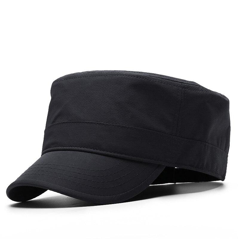 Spring Big Head Man Large Size Thin Polyester Army Flat Cap Men Summer Plus Size Mesh Military Hat 55-60cm 60-65cm