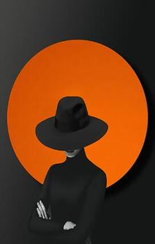 """black orange"" art paintings εκτύπωση σε καμβά"