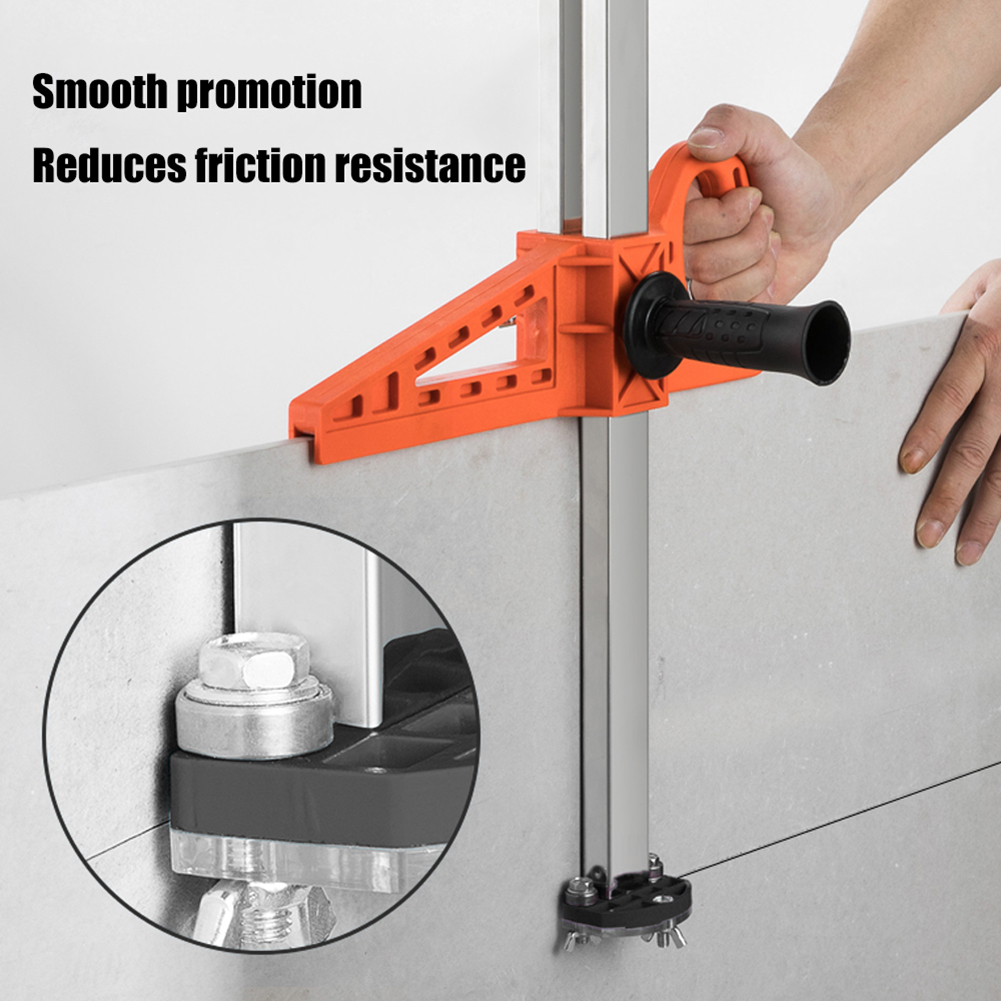 Durable Fixing Manual Gypsum Board Cutter Adjustable Hand Push Drywall Cutting Tool Double Handle with Stainless Steel Ruler