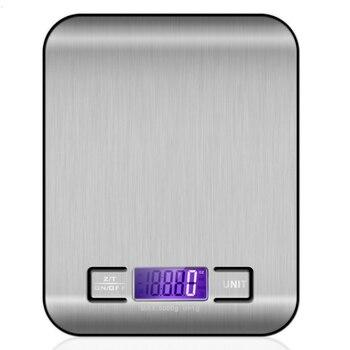 Электронные кухонные весы, цифровые пищевые весы из нержавеющей стали с ЖК-дисплеем, высокоточные измерительные инструменты, весы для приг...