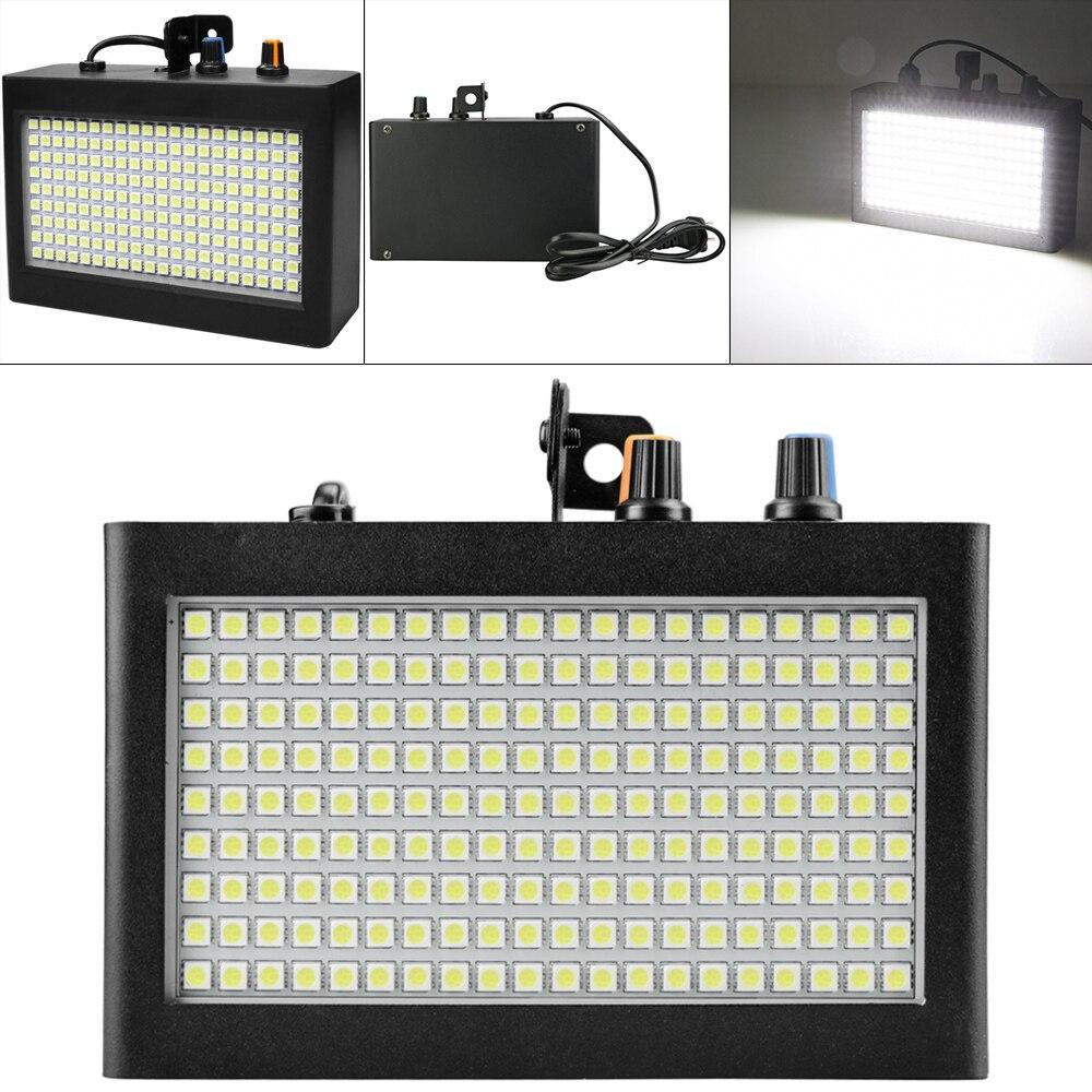 Портативный 180 светодиодов 35 Вт белый стробоскоп светильник с пульт ДУ со звуковым управлением стробоскоп Регулируемая скорость подходит