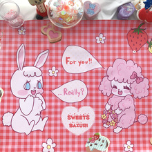 Милый ПВХ скатерть девушка розовый стол коврик для клавиатуры