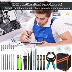 Image 5 - 28 in 1 Professional Phone Repair Tool Sets Precision Screwdriver Kit With Portable Bag For iPhone iPad Pro Air Macbook Repair