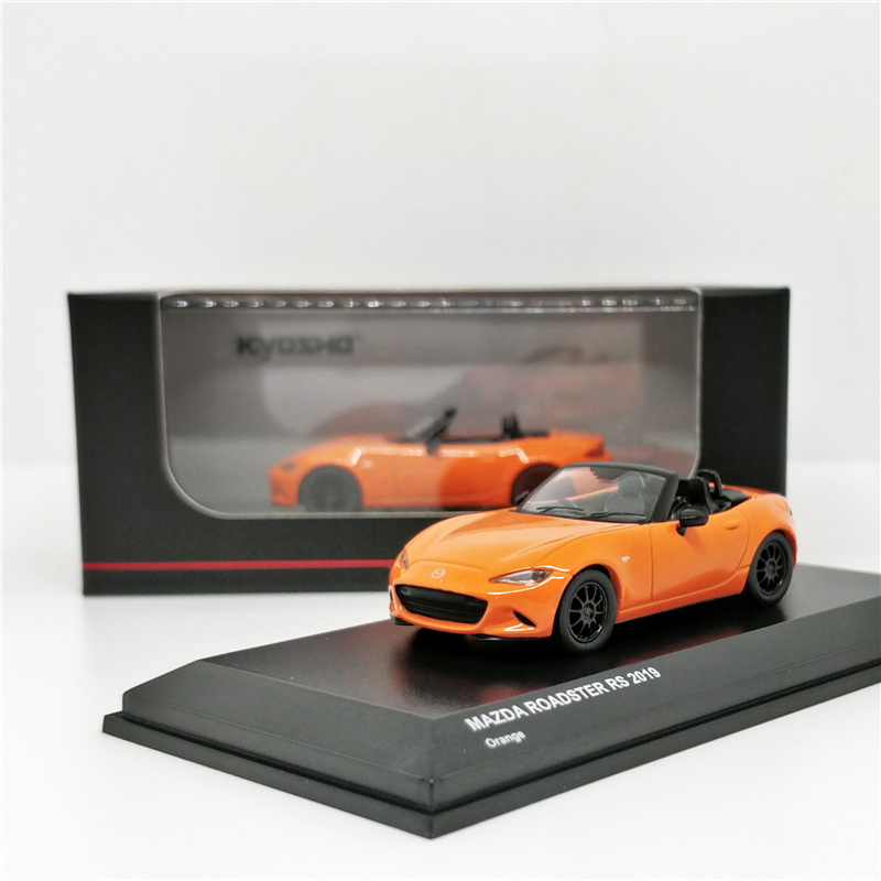 Kyosho 1:64 Mazda Roadster RS 2019 Orange Diecast Model Car