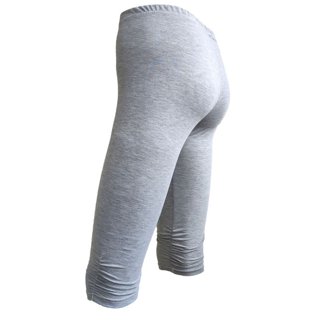 Slim Fit Quick Dry Cropped Stretch Sexy Women Leggings Knee Length Solid Soft Running Elastic Yoga Summer Thin Fitness