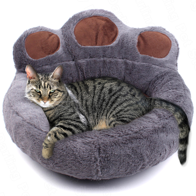 Pet Cat Bed House for Cats Basket Mat Winter Warm Plush Beds Lounger for Cat Panier Pet Bed Products for Cats Cama para Gato 1