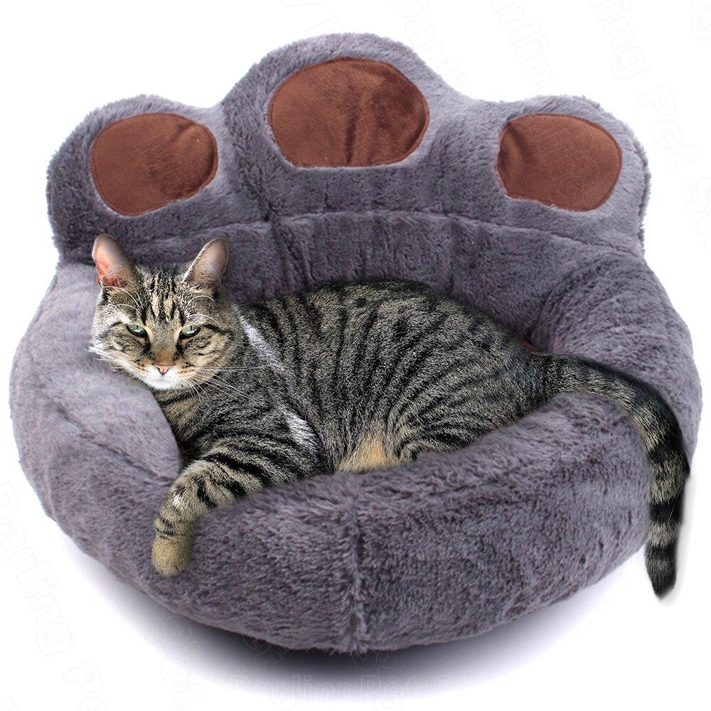 Лежанка для домашних животных, домик для корзина для кошек, зимние теплые плюшевые кровати, шезлонг для кошек, корзина, Лежанка для домашних ...