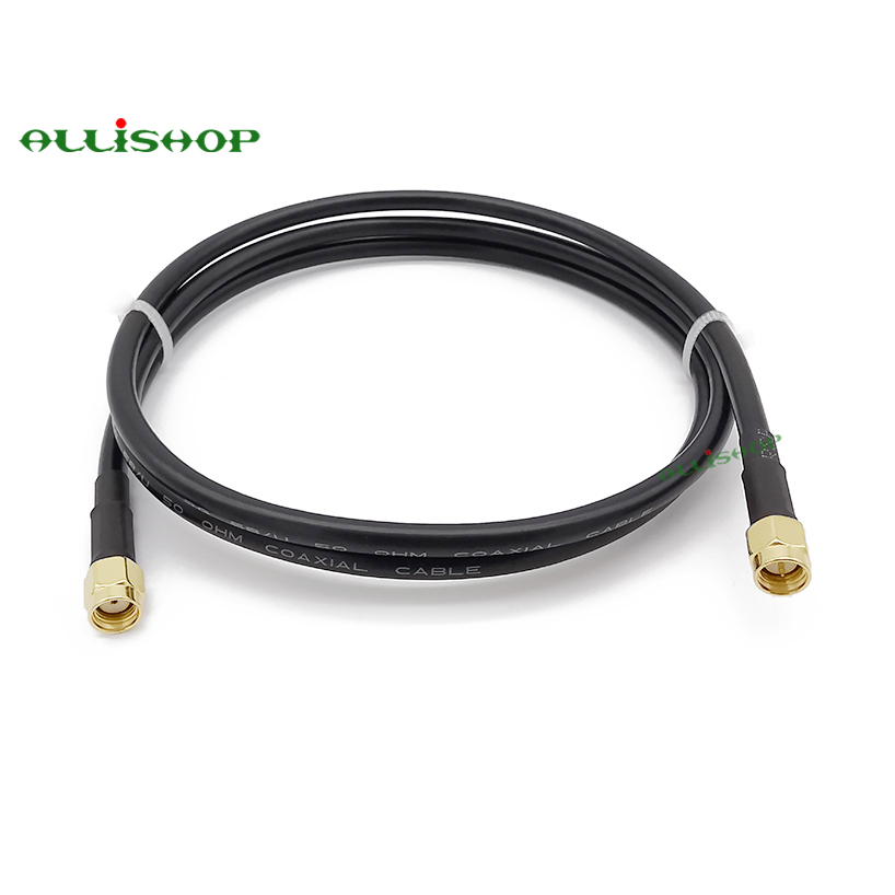 RP-SMA male to male right angle RG402 cable RF LOW LOSS Semi Flexible 3G 4G ante