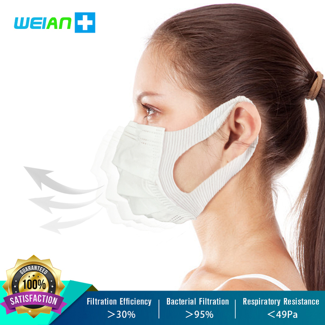 Brand New Disposable Mask Anti Bacterial Dust Pollen Flu 일회용마스크 Mask Waterproof Breathable Dustproof Influenza Safety Face Masks 2