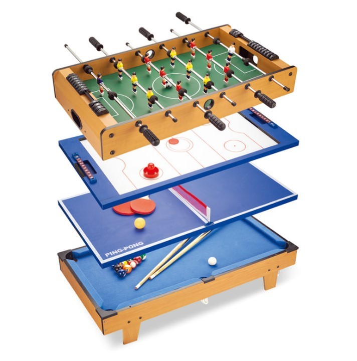 Multifunctional Large Game Table Table Tennis Billiards Hockey Football Four-in-one Table Adult And Children's Toys HWC