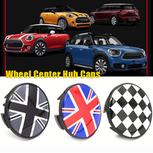4pc Car Tire Wheel Center Hub Caps Badge Stickers Caphubs For MINI COOPER