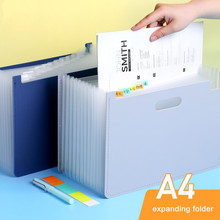 MINKYS Large Capacity A4 Expanding File Folder Bag 13 Layers Document File Bag Organizer Holder Free Label Office Stationery