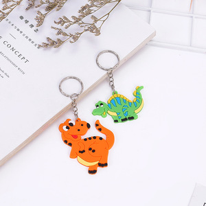 Image 3 - 6pcs/lot Dinosaur Rubber key chain Bracelet Birthday Party Supplies Gifts Wedding Gifts for Guests Favors Bracelet Lovers Gifts