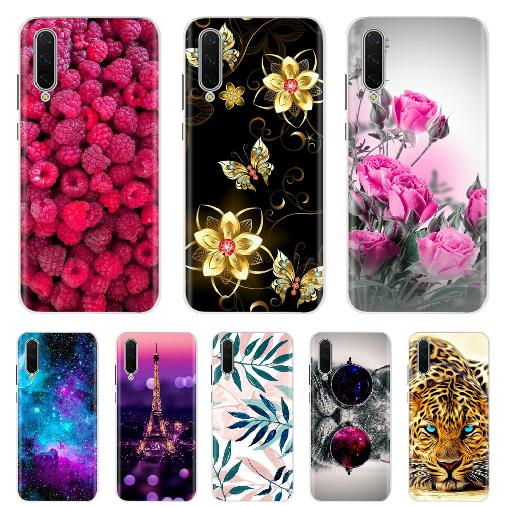 For <font><b>Xiaomi</b></font> <font><b>Mi</b></font> <font><b>A3</b></font> Case <font><b>Mi</b></font> <font><b>A3</b></font> Lite Cover Flower Bumper Soft Silicone TPU Case On For <font><b>Xiaomi</b></font> <font><b>Mi</b></font> A2 Lite Case MiA2 Cover <font><b>Funda</b></font> Capas image