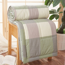 Cool Quilt Stripe Thin Air Condition Quilts Throw Sofa Bed Office Comforter Warm Adult Student Coverlet Back To School