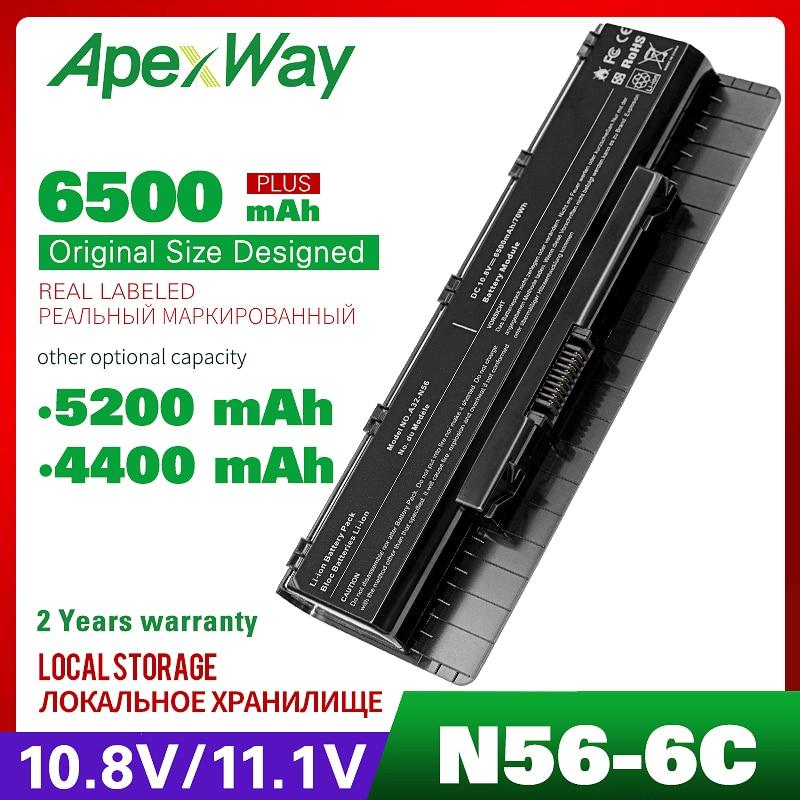 10.8V Laptop Battery For Asus N56VZ N56VJ N56V N56D N56 N46 N46V N76 N76V B53A B53V F55 F45A F45U Series A31-N56 A32-N56 A33-N56