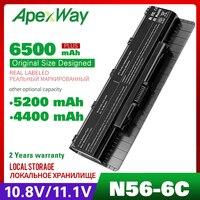 Bateria portátil 10.8v  bateria para asus a5n56v n56d n56 n46 n46v n76 n76v b53a b53v f55 f45a f45u série A31-N56 A32-N56 A33-N56