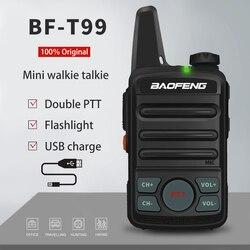 BAOFENG BF-T99 мини-рация для детей, Модернизированная BF-T1 UHF Ham Радио bft1 HF трансивер bf t1 Woki Toki любительская радиостанция