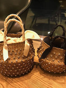 Straw-Bag Bucket Emb...